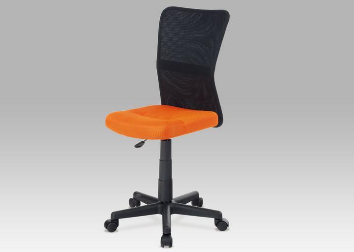 Kancelárska stolička KA-2325   Farba: oranžová / čierna