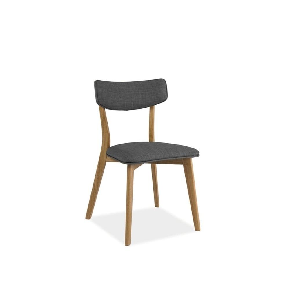 Sivá čalúnená jedálenská stolička Signal Karl