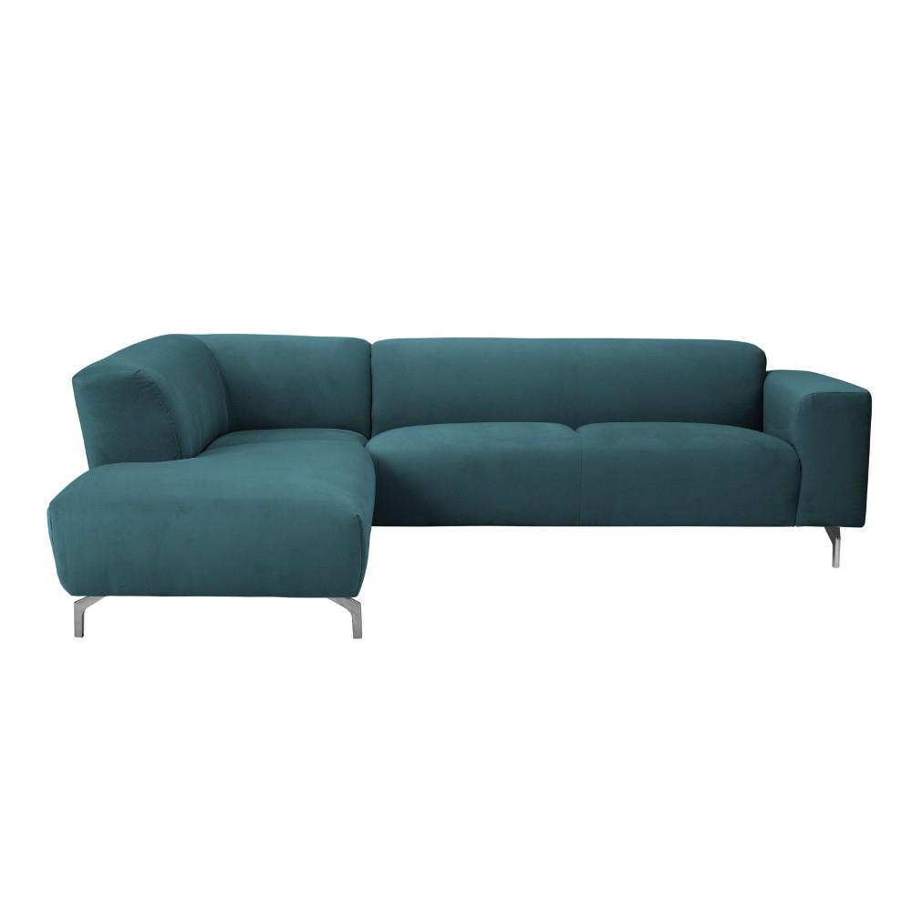 Tyrkysová rohová pohovka Windsor & Co Sofas Orion, ľavý roh