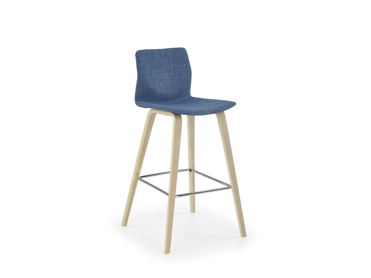Barová stolička H-80 (tyrkysová + buk)