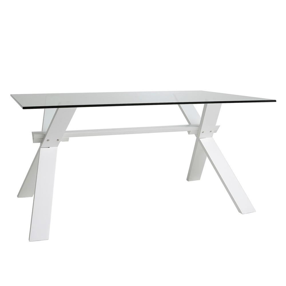 Biely jedálenský stôl Marckeric Selena, 160 x 90 cm