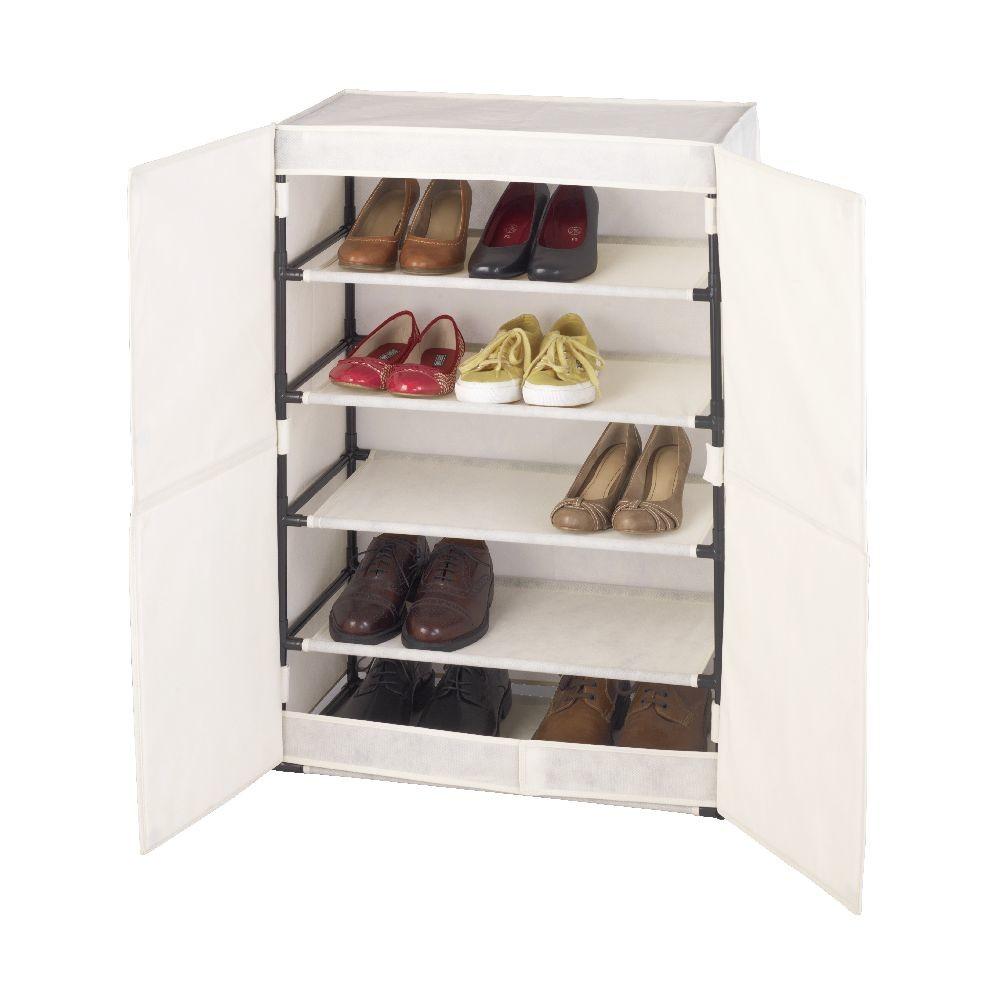 Textilná skrinka na 15 párov topánok Wenko Butterfly
