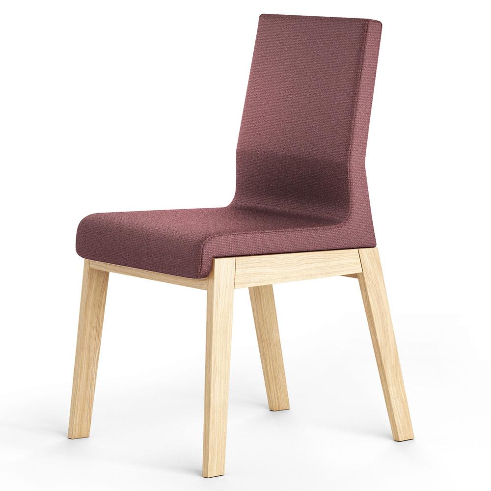 Svetlofialová stolička z dubového dreva Absynth Kyla