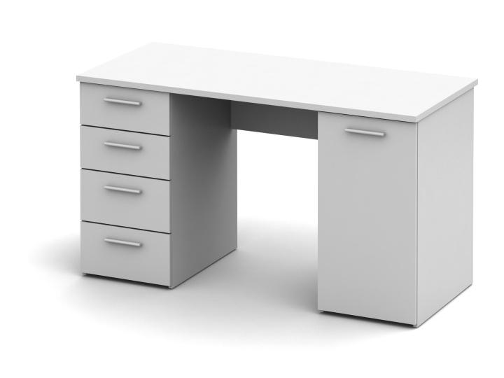 PC stolík Eustach (biela)