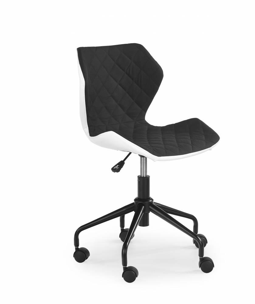 Detská stolička Matrix (čierna + biela)
