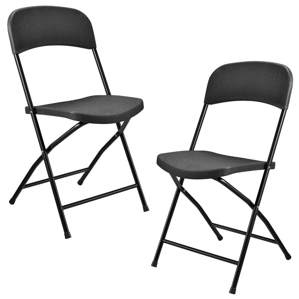 [casa.pro]® Kempingové stoličky - 2 ks - 47 x 39 x 87 cm - tmavo šedé