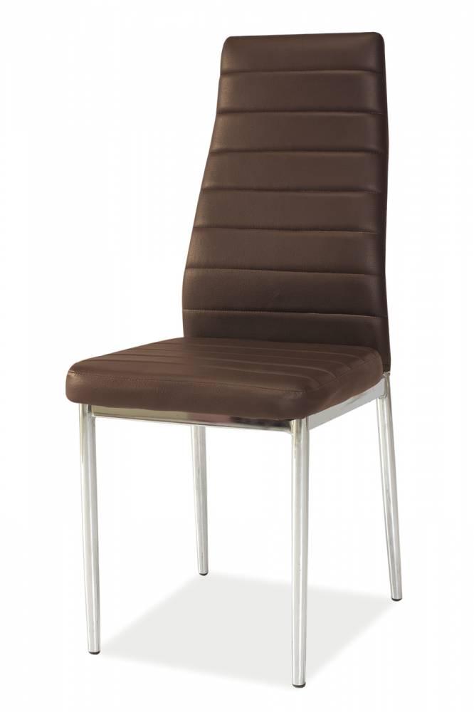Jedálenská stolička H-261 (ekokoža hnedá)