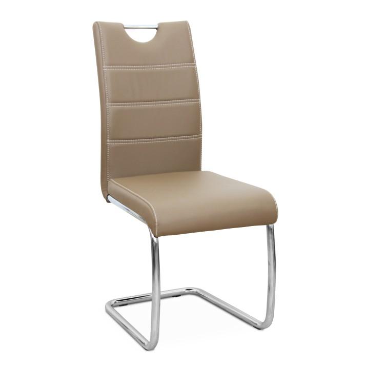 Jedálenská stolička Abira New (capuccino + chróm)