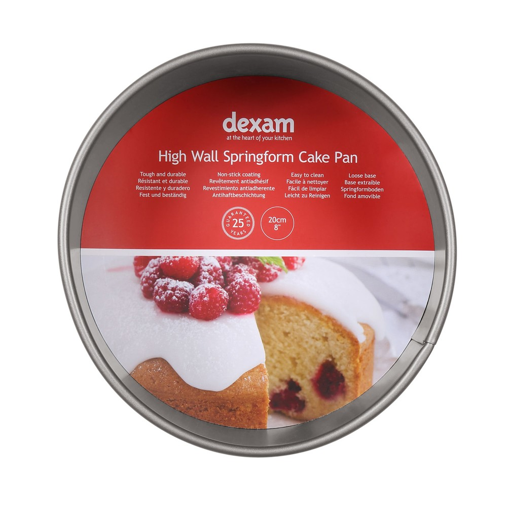 Guľatá forma na pečenie torty s nepriľnavým povrchom Dexam Wall Springform cake, ø 20 cm
