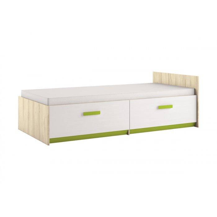 ML MEBLE BEST 17 90 posteľ - breza / biela linea / limetková