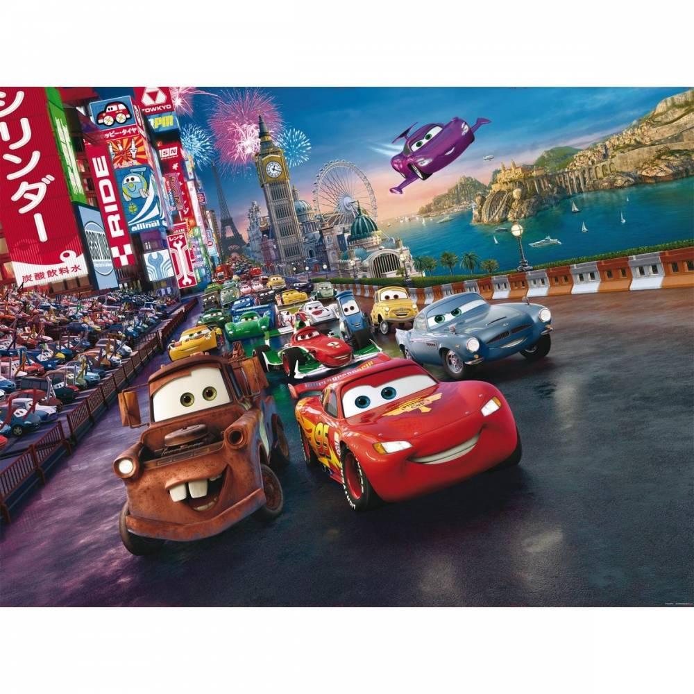 AG Art Detská fototapeta XXL Blesk McQueen a jeho priatelia 360 x 270 cm, 4 diely