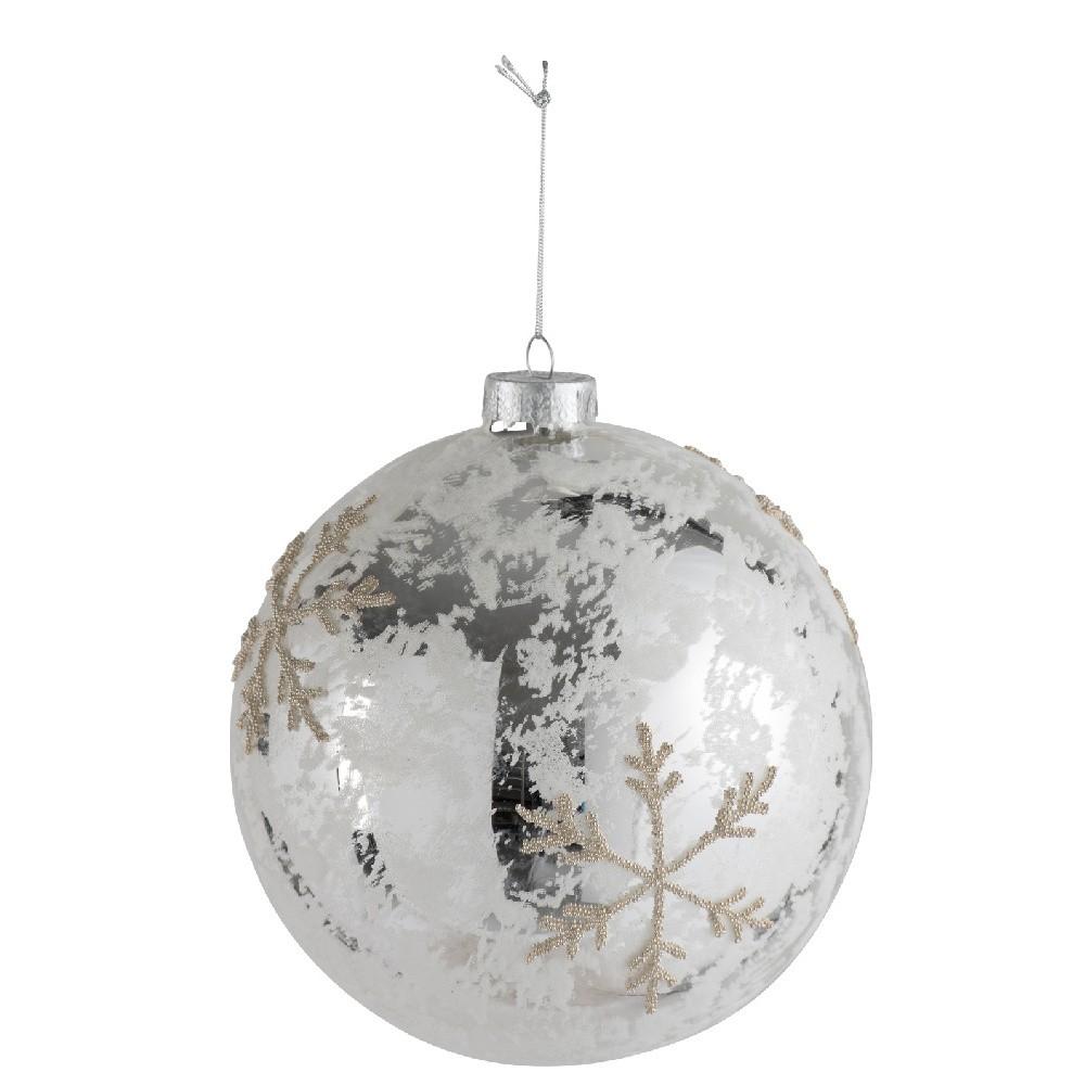 Vianočná guľa J-Line Silvery