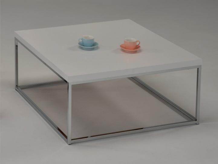 Konferenčný stolík Natanel (extra vysoký lesk biely)