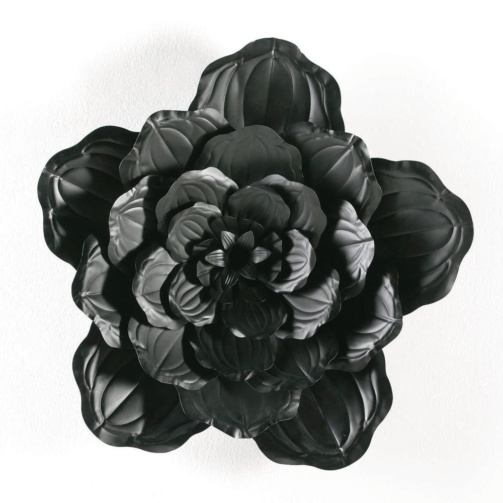 Čierna dekorácia Thai Natura Bunga, ⌀69cm