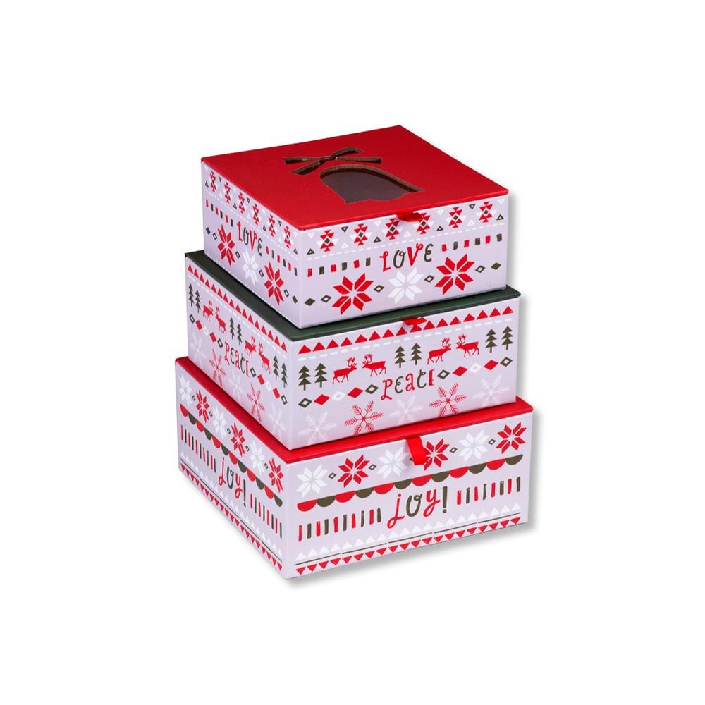 Sada 3 vianočných úložných škatúľ Tri-Coastal Design Santa