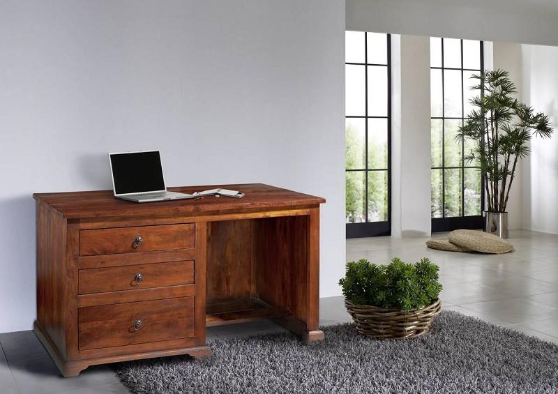 Bighome - CAMBRIDGE  Koloniálny písací stôl, masívne akáciové drevo
