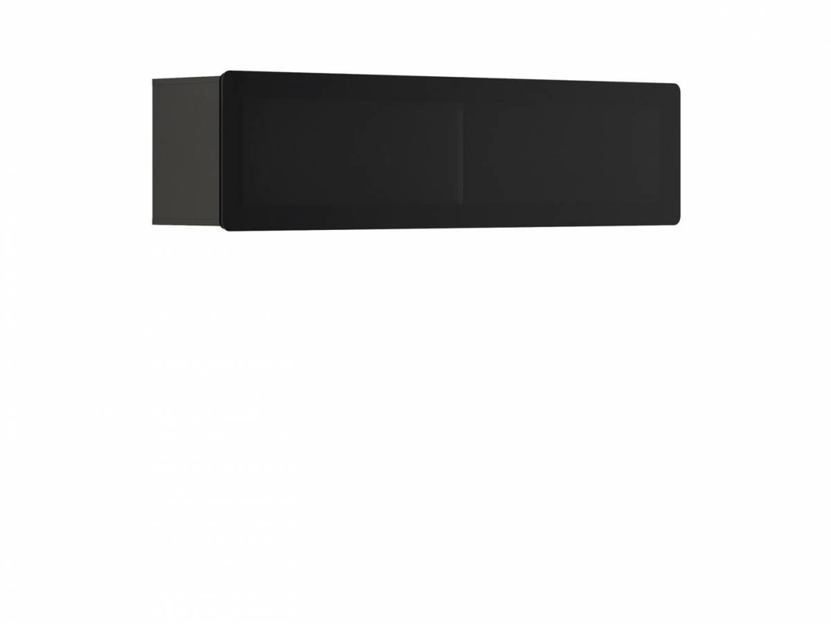 Vitrína na stenu Possi Light SFW1WK/4/16 (sivý wolfram) (s osvetlením)