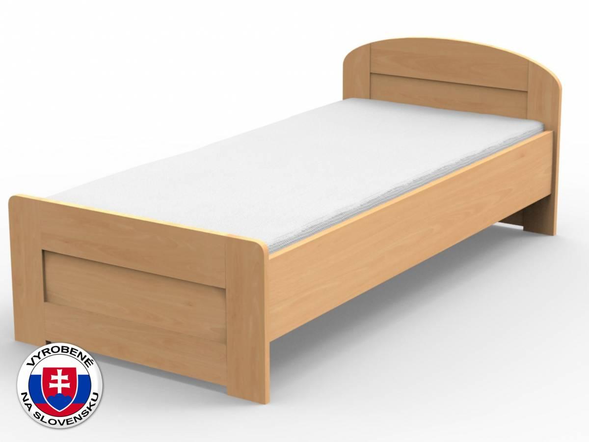 Jednolôžková posteľ 210x90 cm Petra rovné čelo pri nohách (masív)