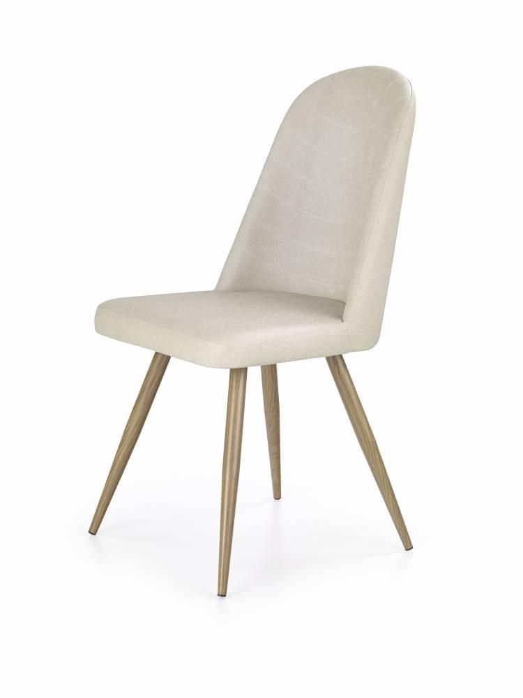 Jedálenská stolička K214 (tmavokrémová + dub medový)