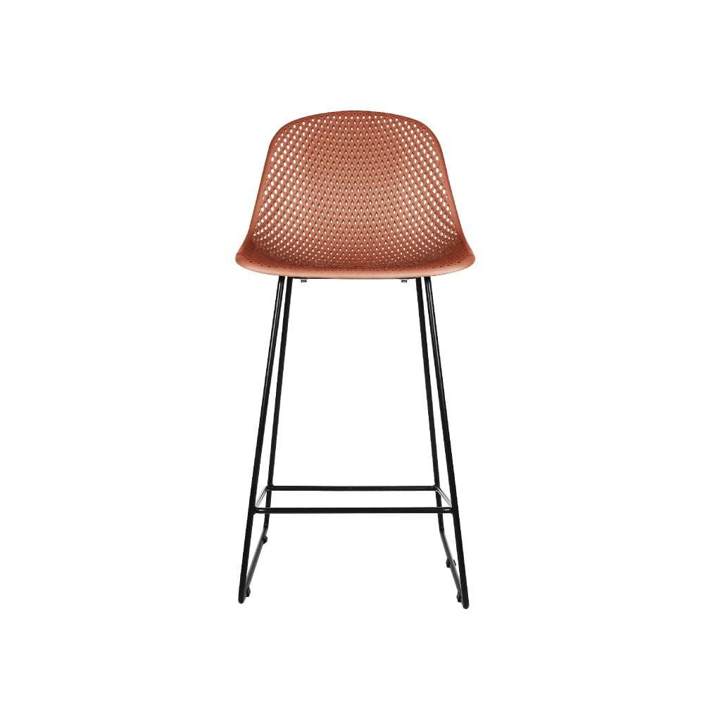 Ílovohnedá barová stolička Leitmotiv Diamond Mesh