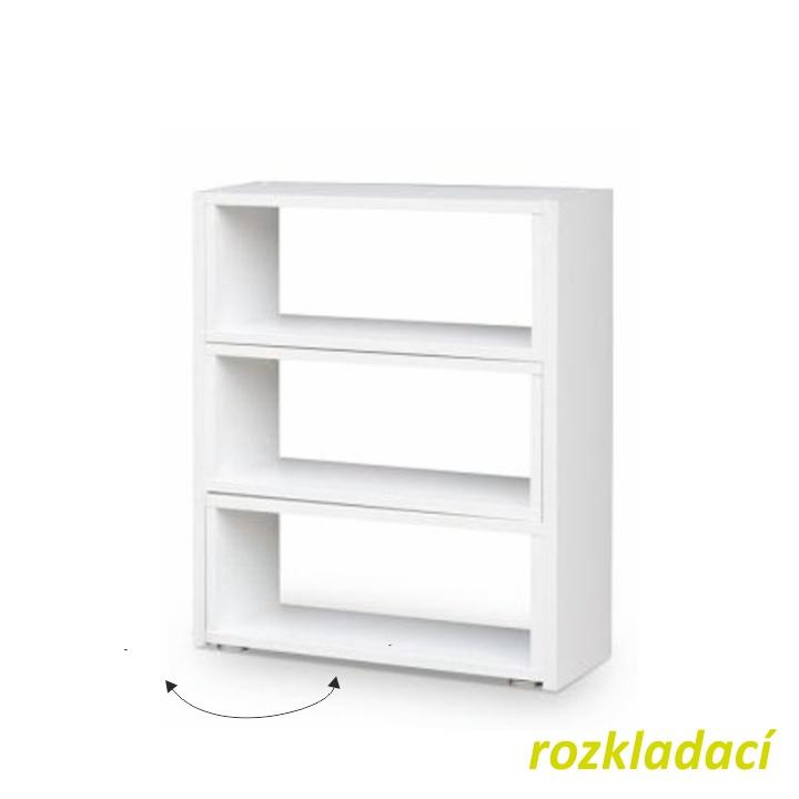 Regál, biely, DTD laminovaná, KLOE III