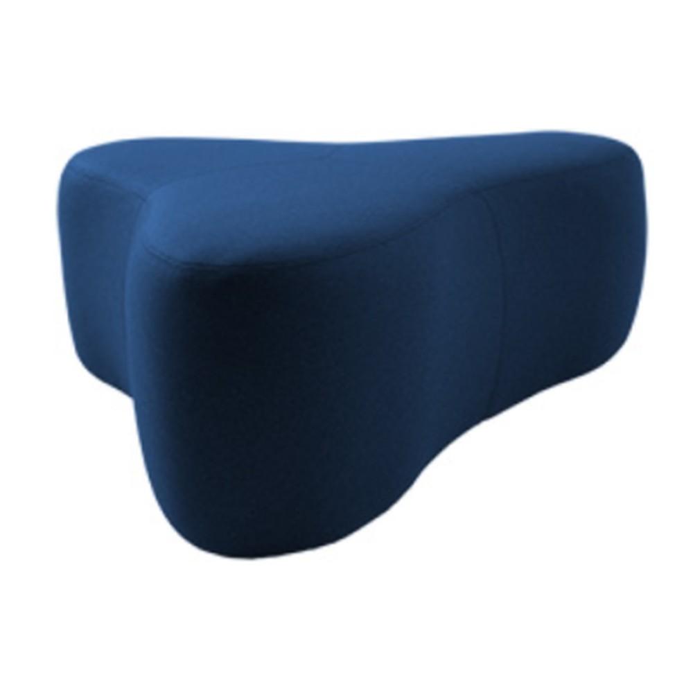 Tmavomodrý puf Softline Chat Felt Melange Dark Blue, dĺžka 130 cm