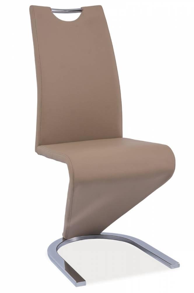 >> Jedálenská stolička HK-090, tmavobéžová/chróm