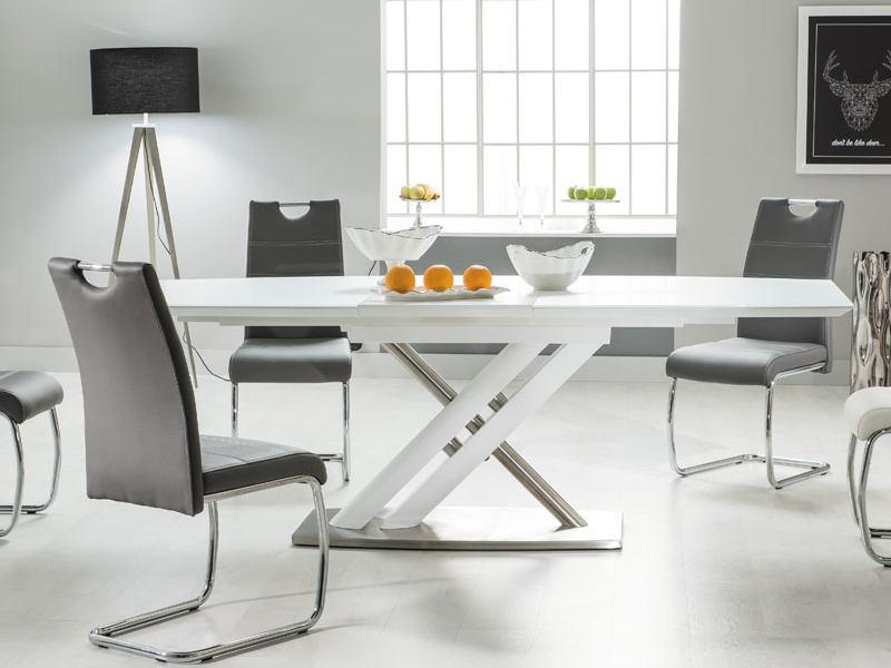 LOMBARDO jedálenský rozkladací stôl, biely