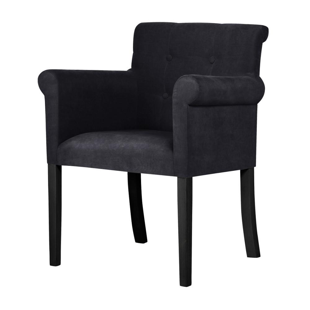 Čierna stolička s čiernymi nohami Ted Lapidus Maison Flacon