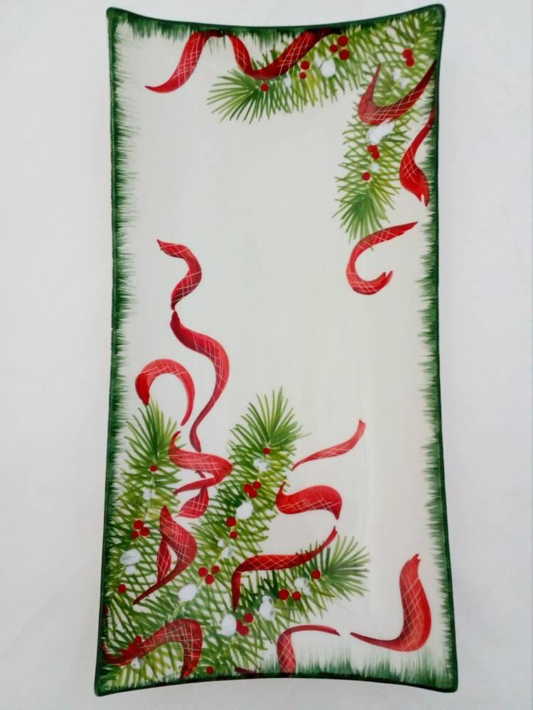 Vianočný tanier IHLIČIE 1606 BR 40cm