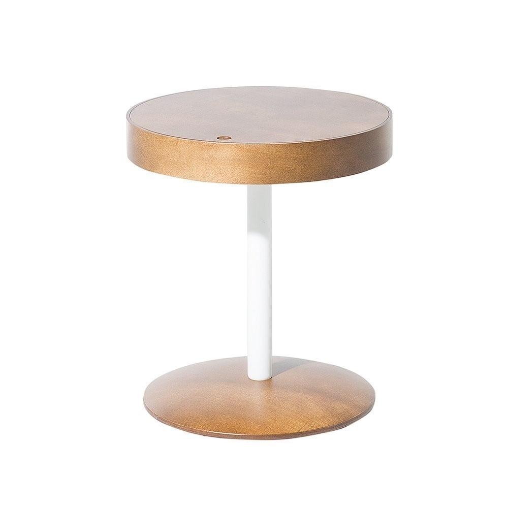 Odkladací stolík v dekore tmavého dreva Monobeli Starlie, ø 40 cm