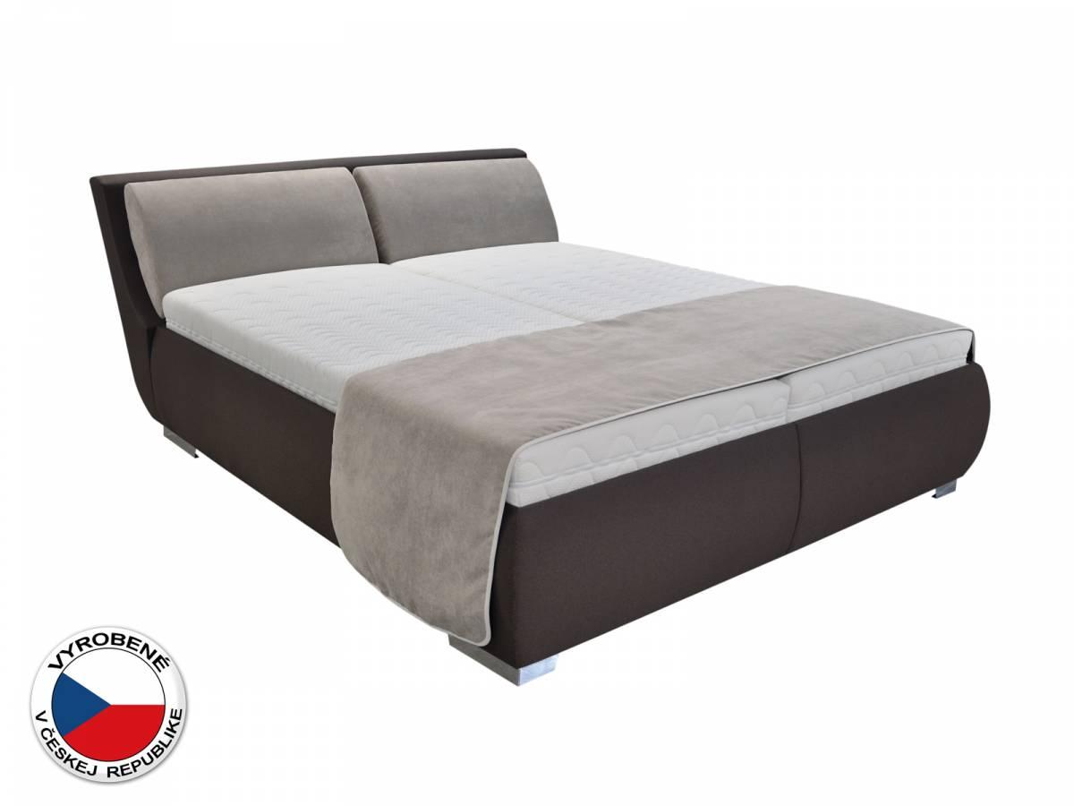 Manželská posteľ 180 cm Blanár Lyon (hnedá) (s roštom a matracom Ivana)