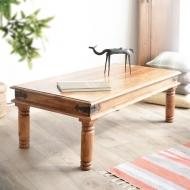 Furniture nábytok  Masívny konferenčný stolík s kovaním  z Palisanderu  Kéšav  110x60x45 cm