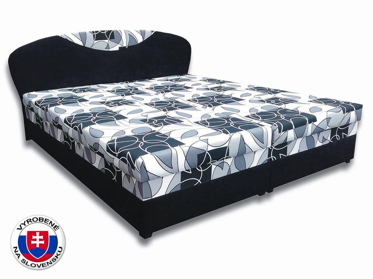 Manželská posteľ 160 cm Izabela 6 (s penovými matracmi)