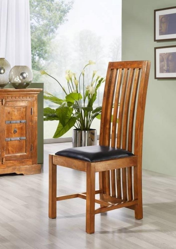 OXFORD HONIG stolička ZENO #029 čierne čalúnenie, agát