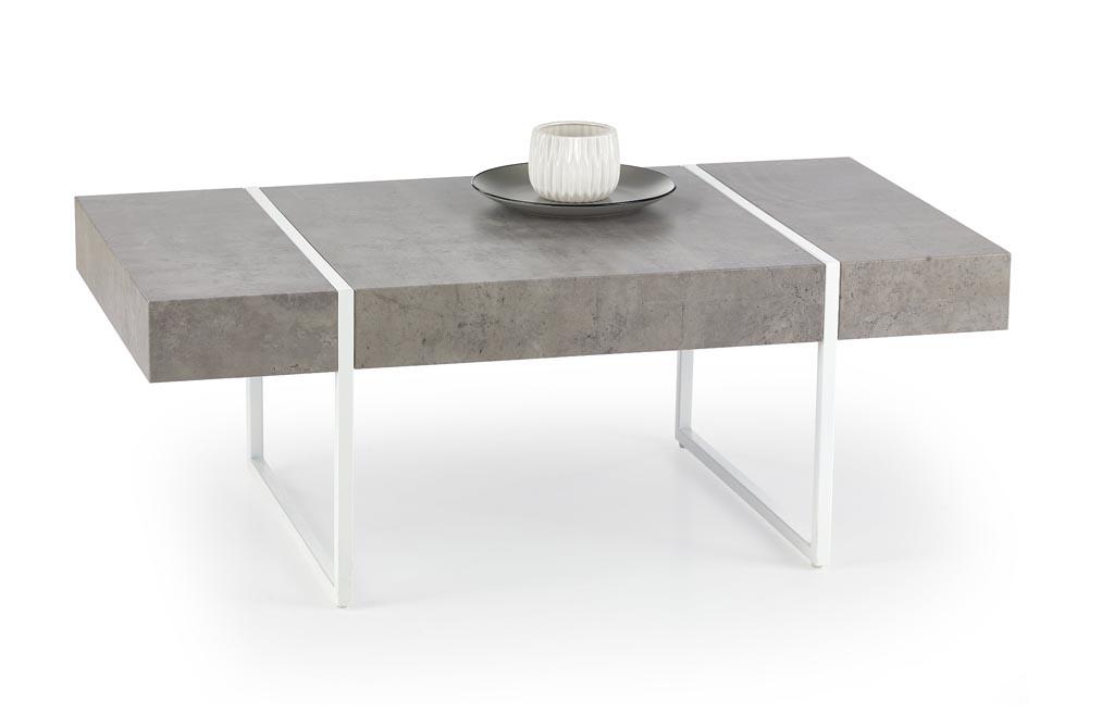 Konferenčný stolík Tiffany (betón + biela)