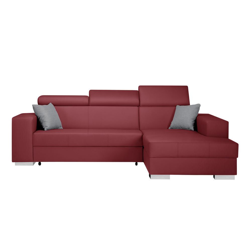 Červená rozkladacia sedačka Interieur De Famille Paris Tresor, pravý roh