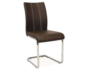 Jedálenská stolička HK-811, hnedá