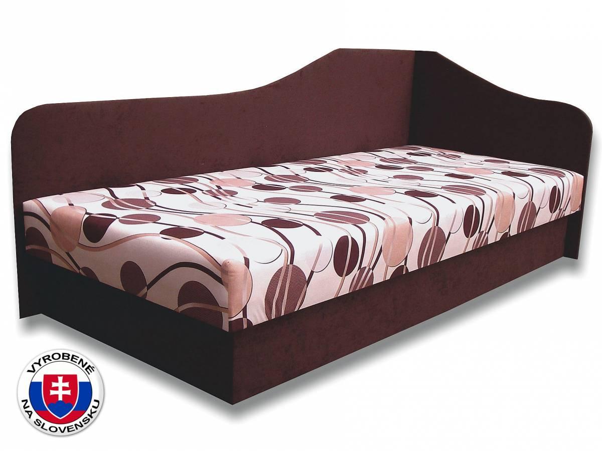 Jednolôžková posteľ (váľanda) 80 cm Lux 87 (Tmavohnedá 40 + Ikarus 20) (P)