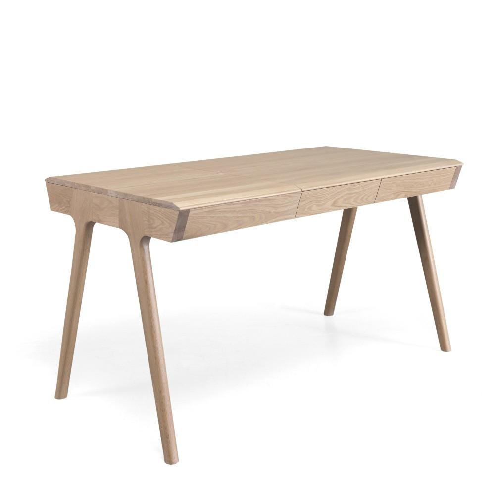 Pracovný stôl z dubového dreva s úložným priestorom Wewood - Portugues Joinery Metis