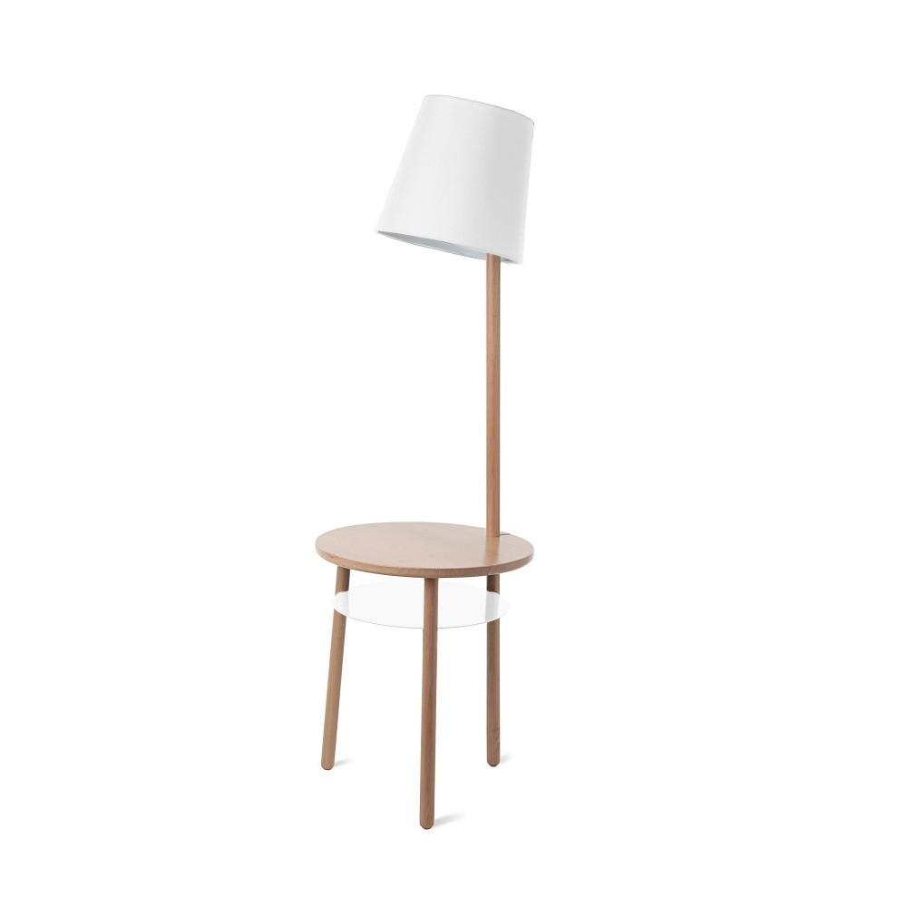Biela stolová lampa z jaseňového dreva HARTÔ Josette