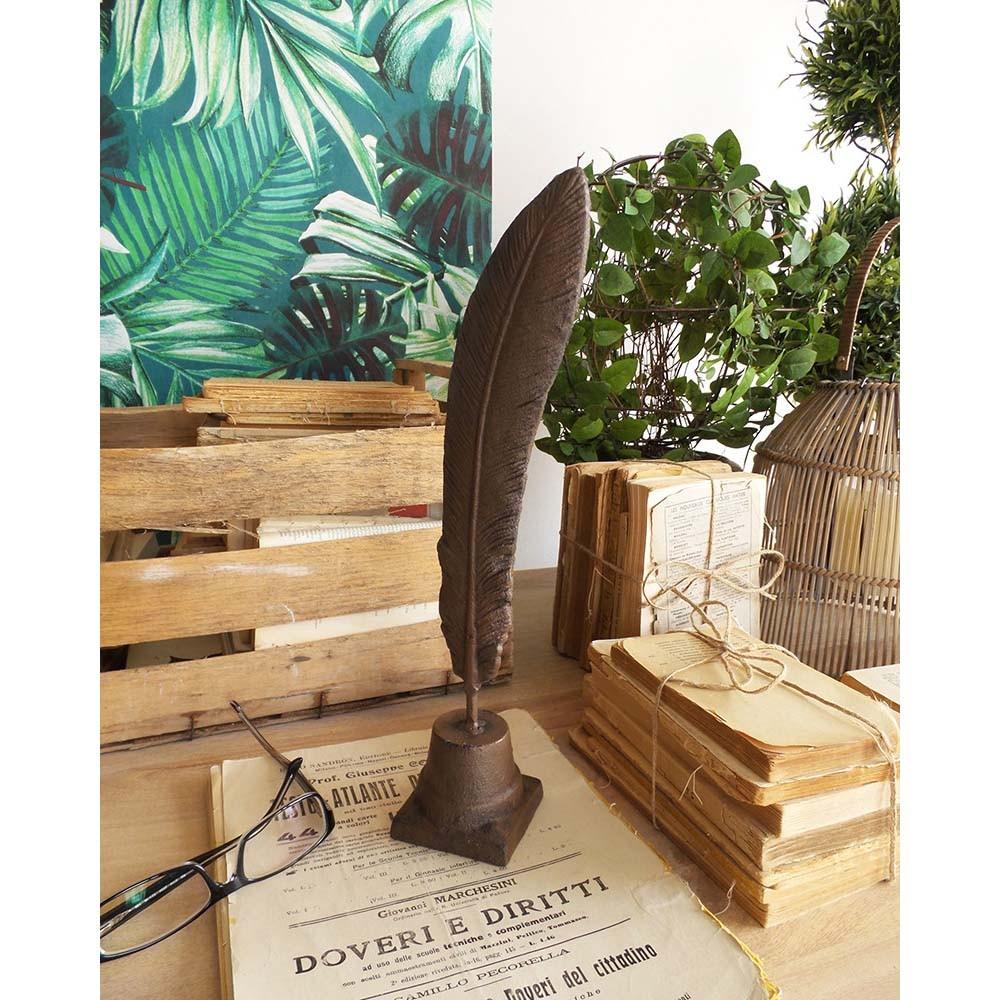 Kovové ťažítko v tvare písacieho brka Orchidea Milano Book 36 cm