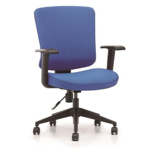 Rauman Kancelárska stolička Casa, modrý sedák aj opierka chrbta CASA B16