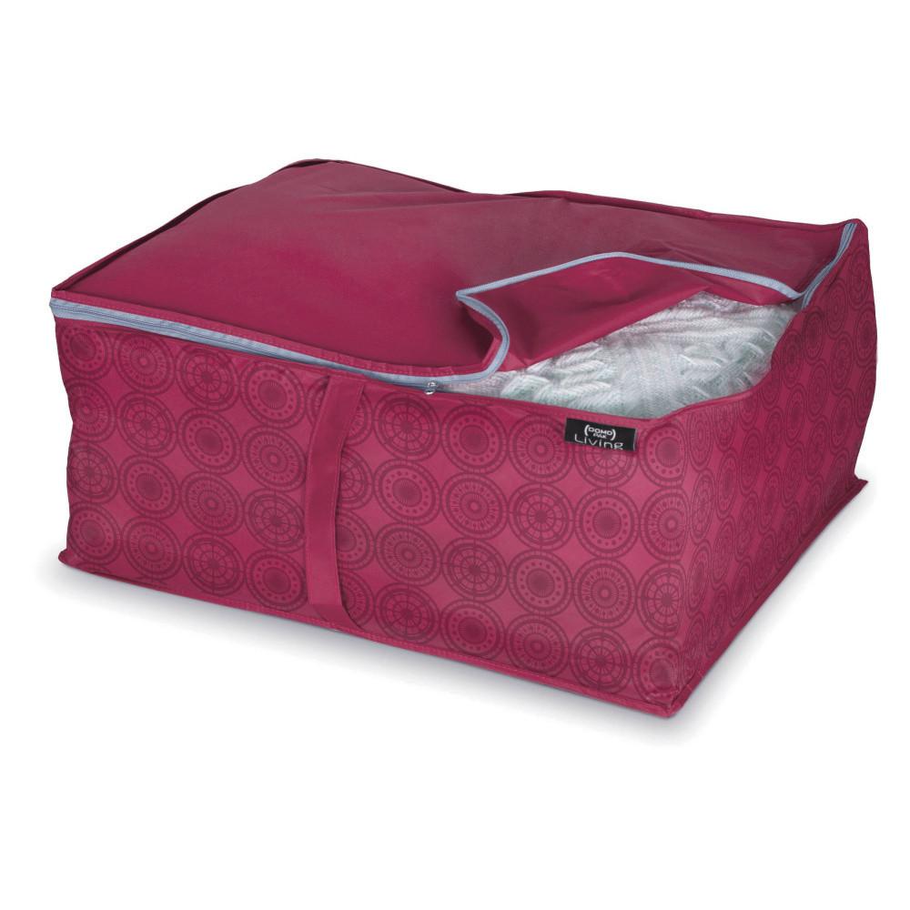 Fialový úložný box na paplón Domopak Ella, veľ. L