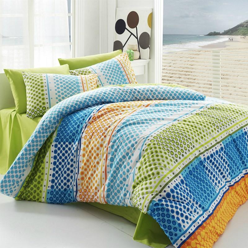 Tip Trade Bavlnené obliečky Fashion Green, 220 x 200 cm, 2 ks 70 x 90 cm