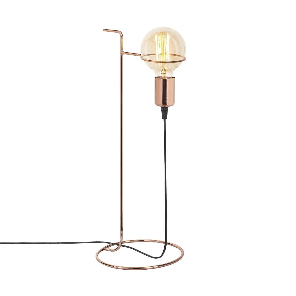 Kovová stolová lampa v medenej farbe Opviq lights ERSI