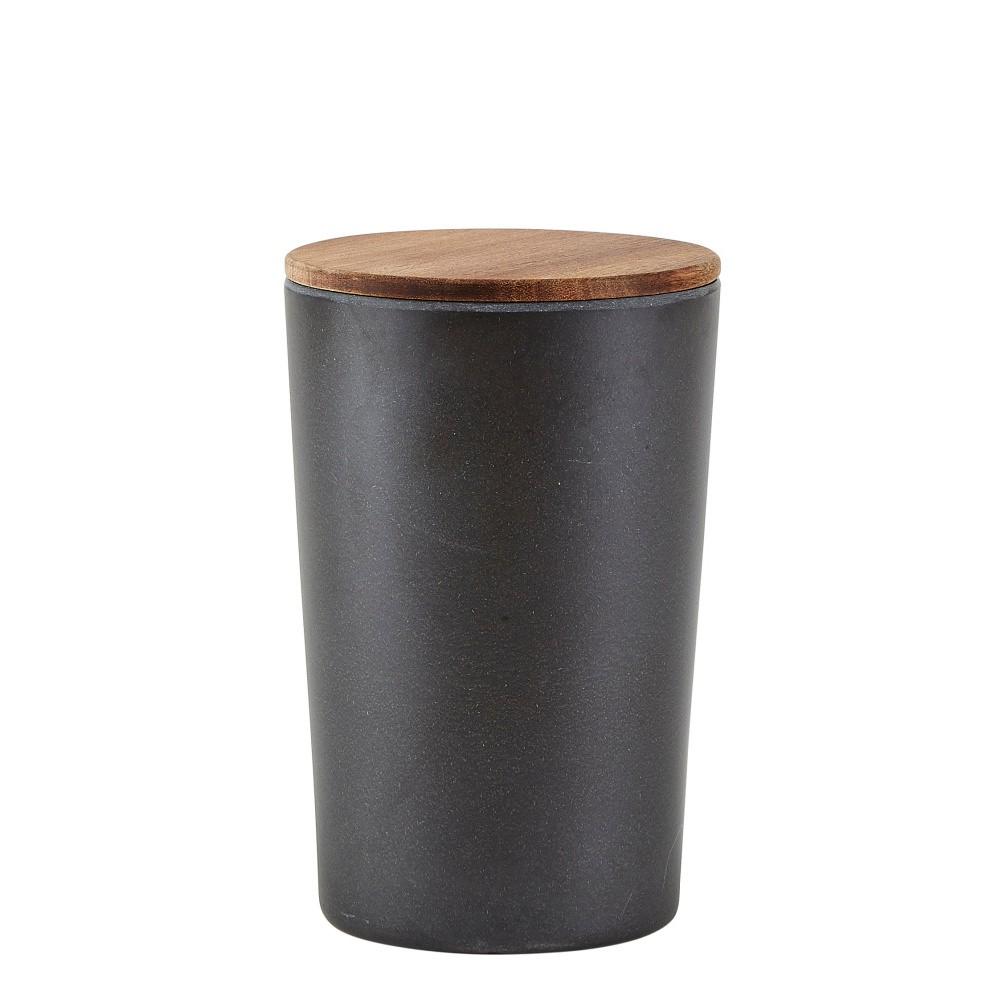 Bambusová dóza na potraviny s vekom Villa Collection Black, 1,3 l