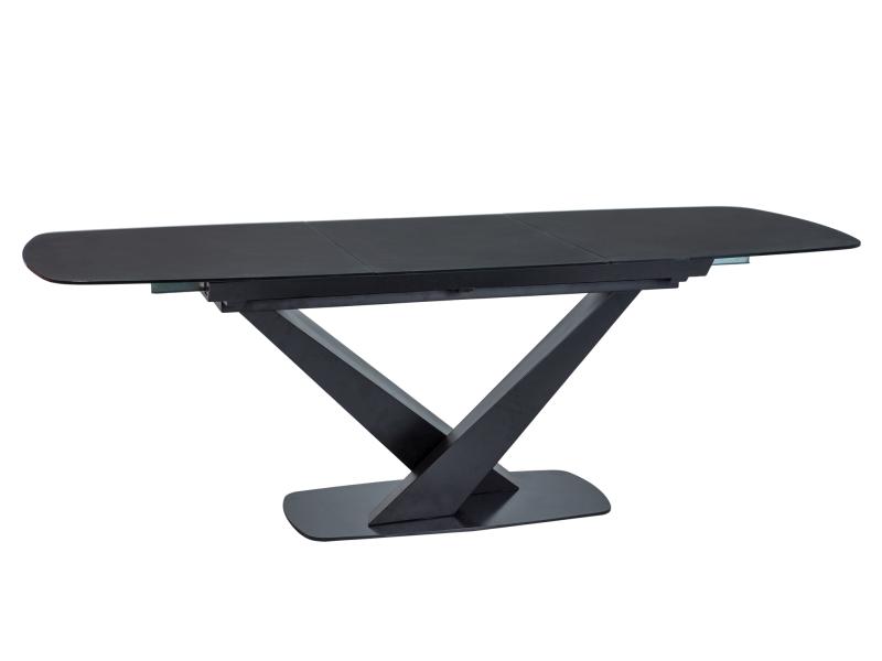 ROYAL jedálenský stôl, čierny mat