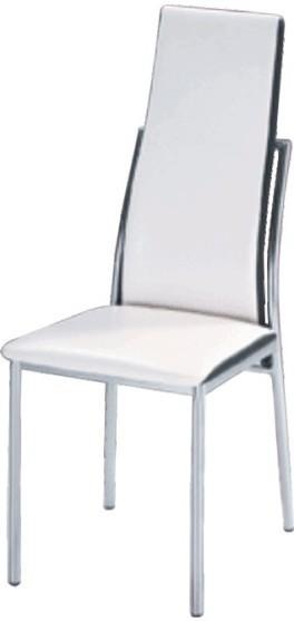 Jedálenská stolička, chróm/ekokoža biela/čierna, ZORA