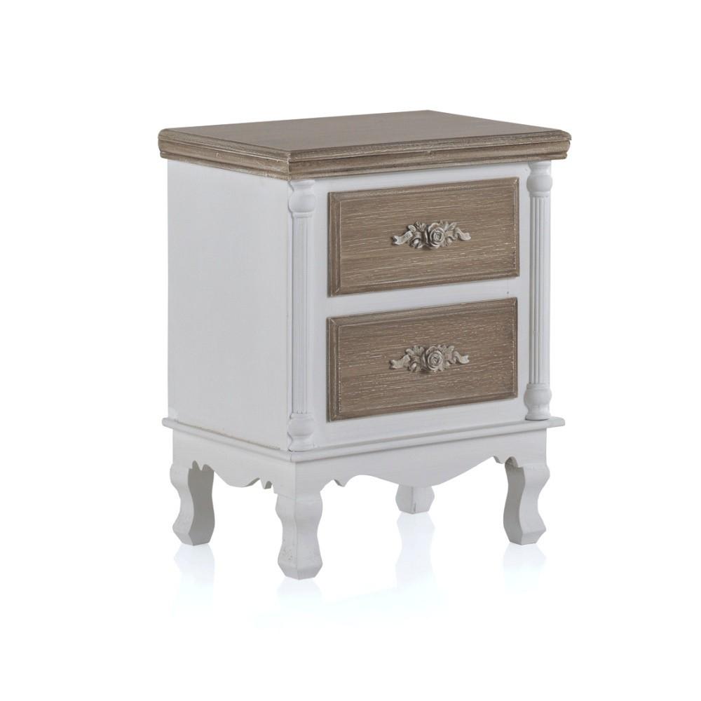 Nočný stolík s 2 zásuvkami Geese Anna